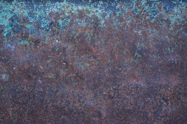 Fondo de textura de superficie de piedra o metal oxidado marrón vacío