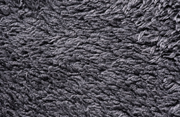 Fondo de textura de tela de color gris macro