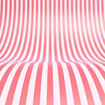 Fondo de textura de tela de seda rosa caramelo rayado vacío