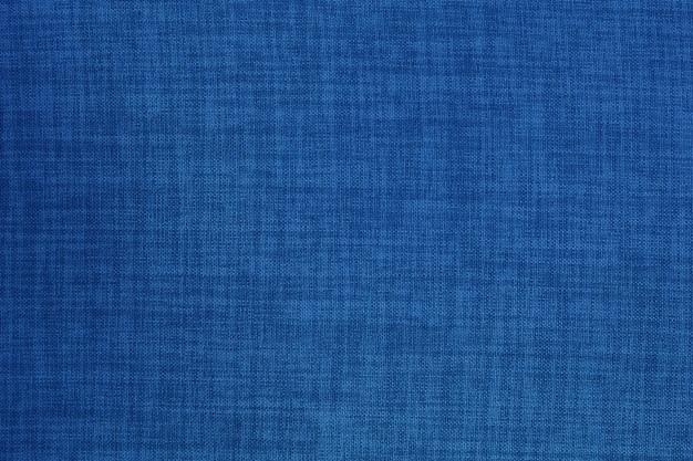 Fondo de textura de tela de tela de lino azul oscuro.