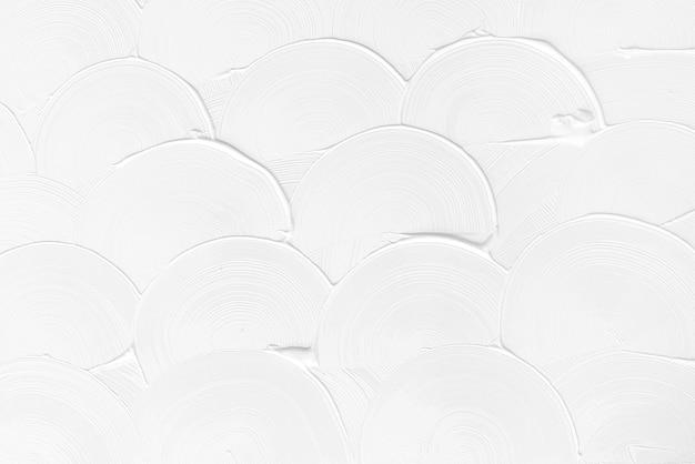 Fondo de textura de trazo de pincel curva blanca