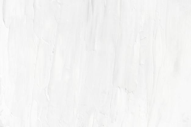 Fondo de textura de trazo de pincel de pintura de aceite blanco