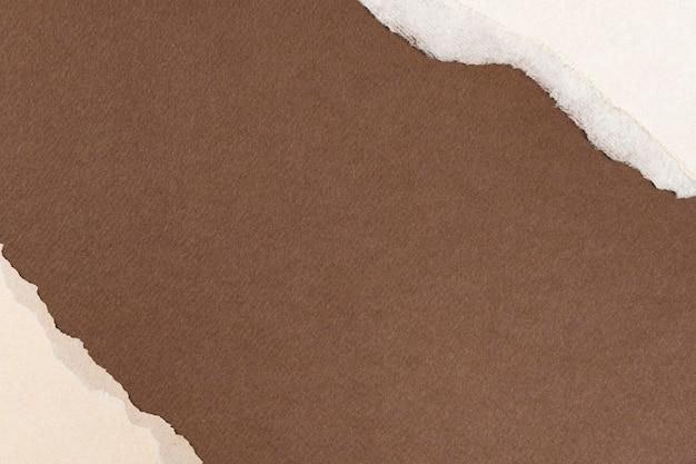 Fondo de tono de tierra de bricolaje marco de artesanía de papel marrón rasgado