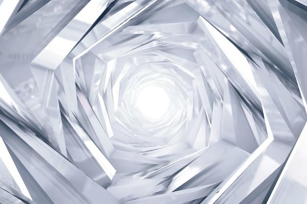 Fondo de túnel redondo de tecnología abstracta