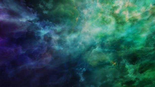 Fondo de universo y espacio de fantasía, render 3d