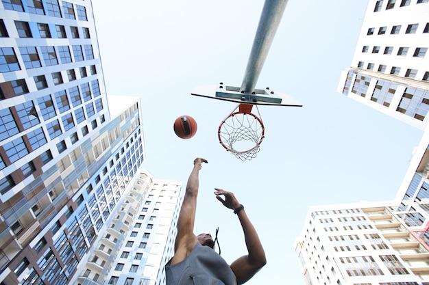 Fondo urbano de baloncesto