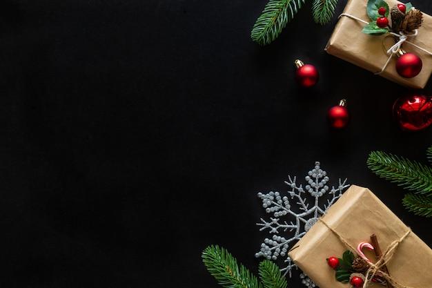Fondo de vacaciones de navidad y año nuevo decorado tema de la casa.