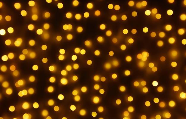 Fondo de vacaciones de navidad luz borrosa abstracta bokeh dorado