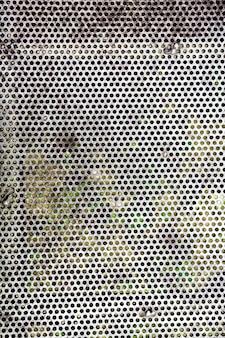 Fondo de valla perforada al aire libre