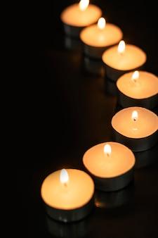 Fondo de vela de diwali, imagen estética de llama