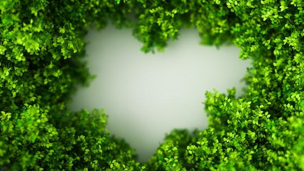 Fondo de verano hermoso con hojas. representación 3d
