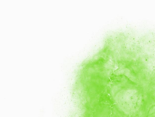 Fondo verde con textura de acuarela en diseño de borde verde pastel vintage abstracto