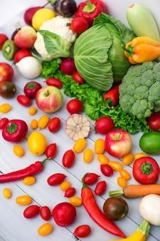 Fondo de verduras. alimentación saludable.