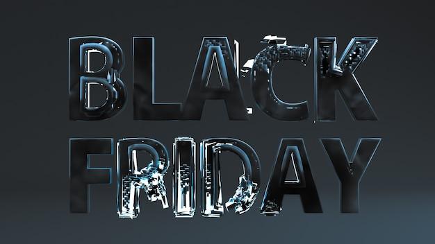 Fondo de viernes negro, letras sobre fondo oscuro. desarrolle una plantilla, diseño, pancarta, folleto, póster.