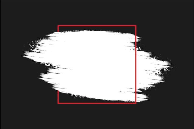 Fondo de viernes negro moderno con marco de trazo de pincel