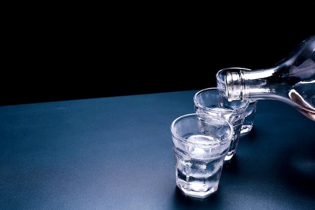 Fondo de vodka ruso