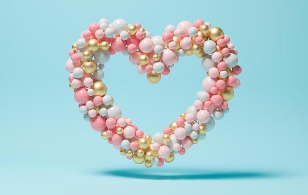 Forma de corazón hecha con globos