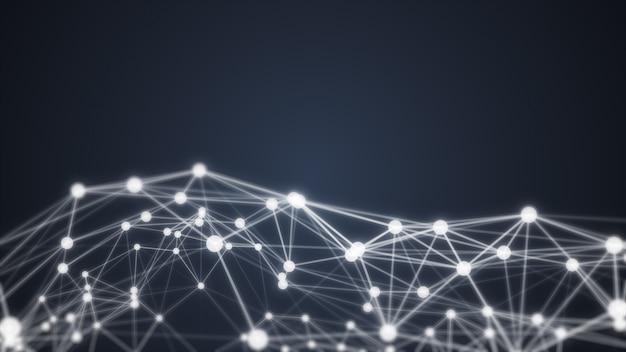 Forma futurista. resumen antecedentes generados por computadora