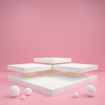Forma geométrica abstracta color pastel minimalista pared de estilo moderno, para stand podio mesa de exhibición en el escenario.