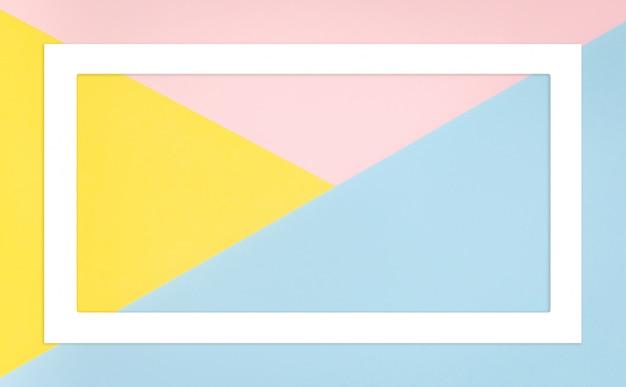Forma geométrica abstracta colores pastel.