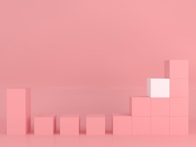Forma geométrica abstracta plantilla de color pastel concepto de estilo moderno mínimo
