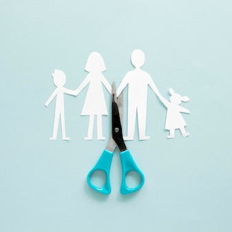 Forma de papel de divorcio familiar
