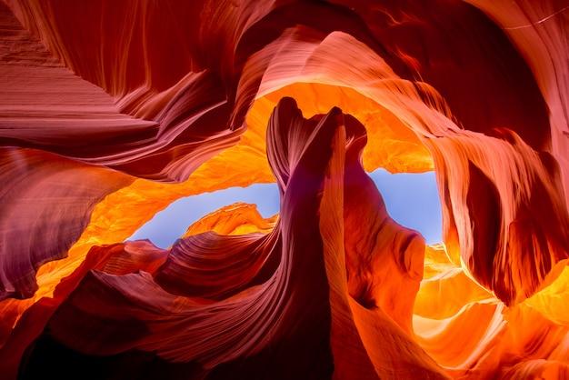 Formación rocosa natural del cañón del antílope