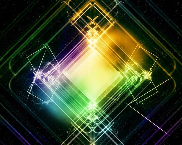 Formas coloridas abstractas brillantes