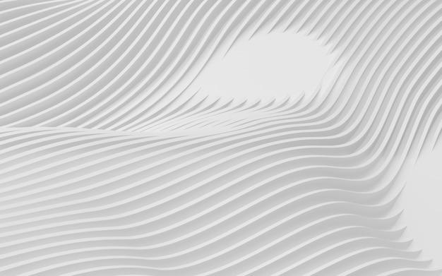 Formas curvas abstractas. fondo circular blanco