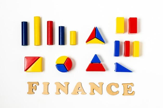 Formas geométricas coloridas para estadísticas