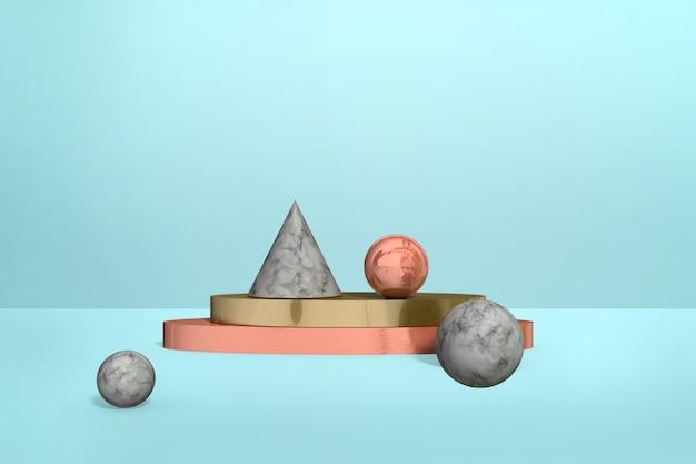 Formas geométricas de mármol