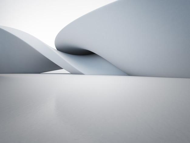 Formas geométricas en piso de concreto vacío.