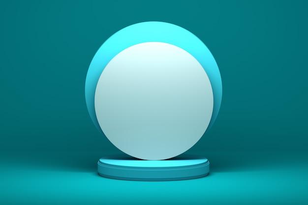 Formas de presentación con superficies circulares redondas sobre pedestal.