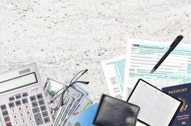 Formulario 1040 del irs declaración de impuestos sobre la renta individual