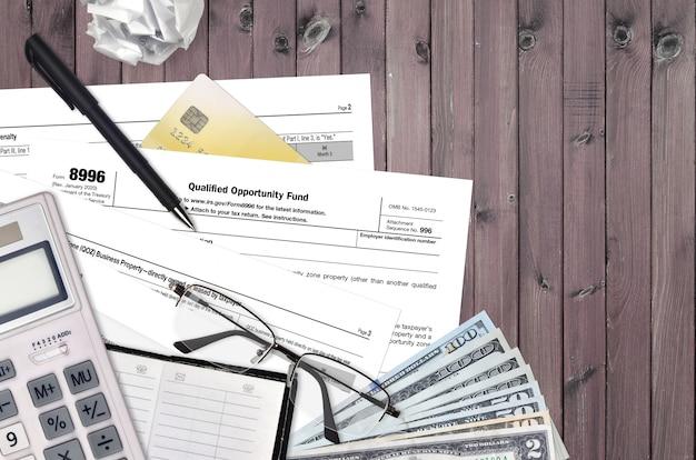 Formulario 8996 del irs fondo de oportunidad calificado