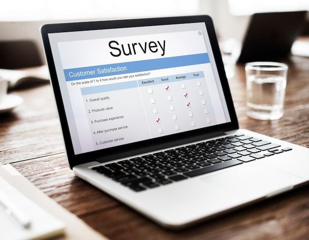 Formulario de encuesta en línea de satisfacción del cliente