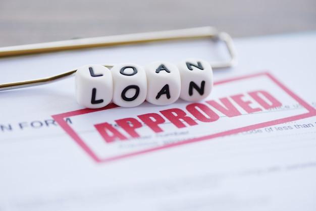 Formulario de solicitud de préstamo financiero para el prestamista y el prestatario para ayudar a invertir el patrimonio del banco