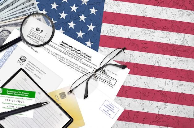 Formulario w-7 del irs solicitud de número de identificación de contribuyente individual del irs