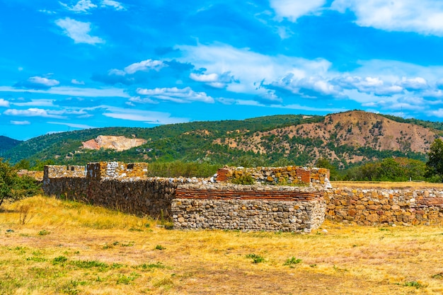 Fortaleza romana de diana castrum, construida en 101 ad en kladovo, serbia oriental