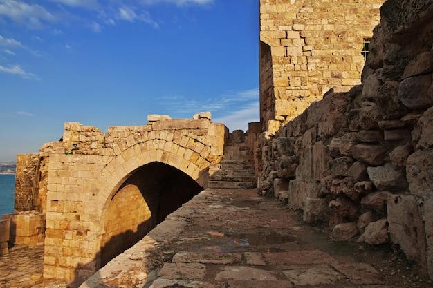 La fortaleza en sidón (sayda), líbano