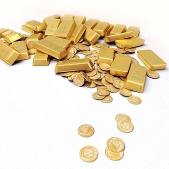 Una fortuna en lingotes y monedas de oro.