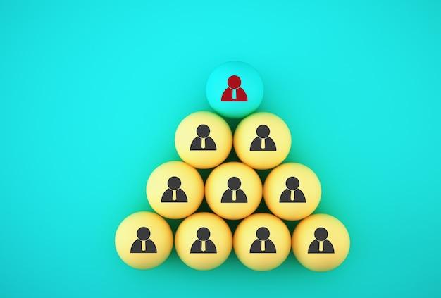 Foto abstracta del equipo de negocios de gestión y reclutamiento de recursos humanos, vinculación de entidades, jerarquía y recursos humanos