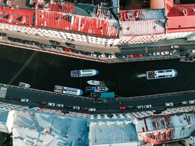 Foto aérea del centro de san petersburgo,