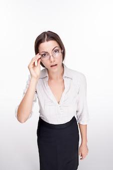Foto de una bella mujer de negocios
