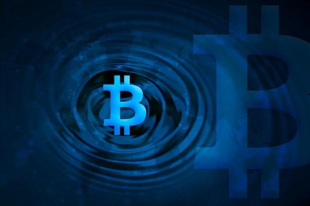 Foto de la cadena de bloques de bitcoin de cryptocurrency