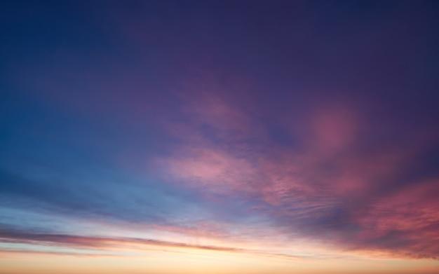 Foto cielo puesta de sol, foto de fondo fenómeno natural