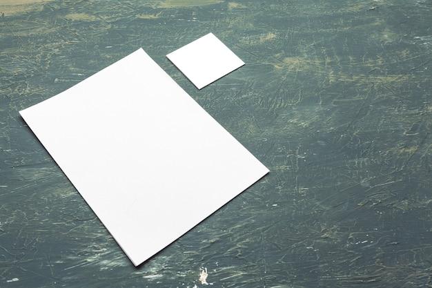 Foto. identidad de marca para presentaciones gráficas y carteras