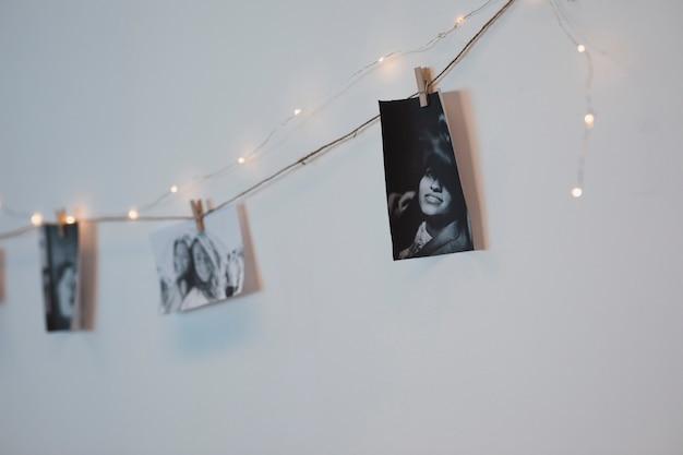Foto de primer plano colgar de la cuerda
