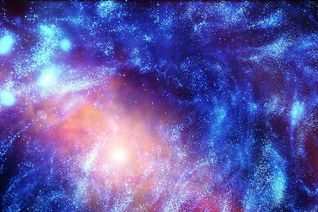 Fotografía astronómica del universo en una galaxia distante con nebulosas y estrellas