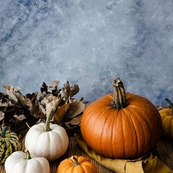 Fotografía de vegetales orgánicos de calabazas de jack o 'lantern
